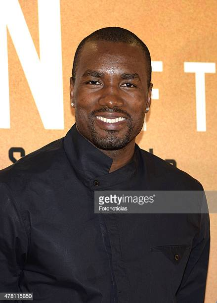Serge Ibaka attends the 'Son of the Congo El hechizo de Serge Ibaka' documentary presentation at Callao City Lights Cinema on June 22 2015 in Madrid...