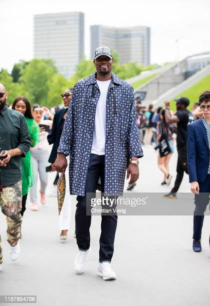 Serge Ibaka is seen outside Kenzo during Paris Fashion Week Menswear Spring/Summer 2020 on June 23 2019 in Paris France