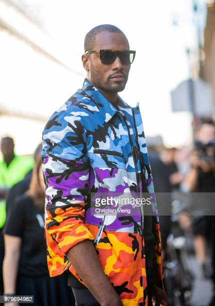 Serge Ibaka is seen outside Valentino on day two of Paris Fashion Week Menswear SS19 on June 20 2018 in Paris France