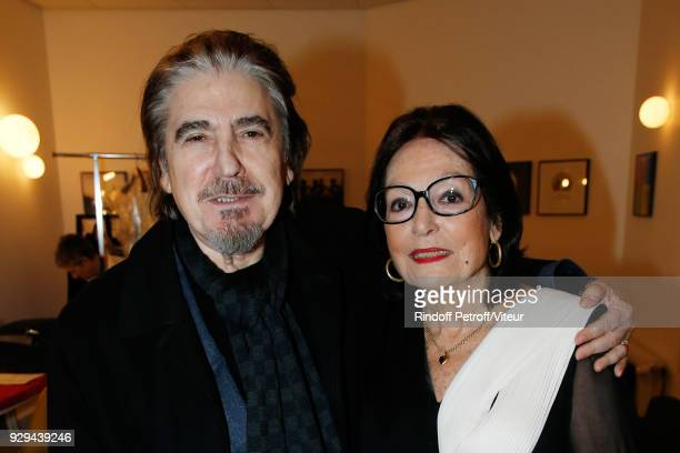 """Serge Lama and Nana Mouskouri attend """"Nana Mouskouri Forever Young Tour 2018"""" at Salle Pleyel on March 8, 2018 in Paris, France."""