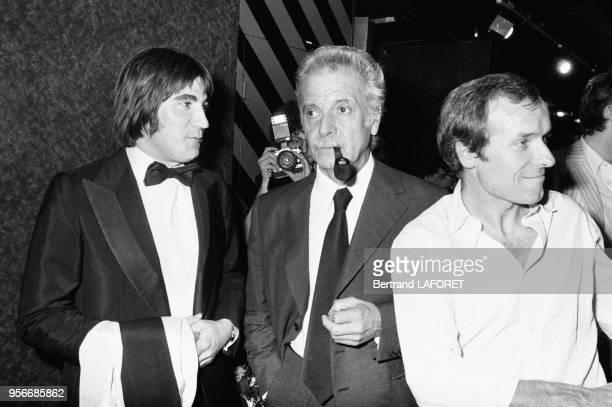 Serge Lama et Georges Brassens lors de la 1ère d'Alice Dona à l'Olympia en septembre 1979 à Paris France