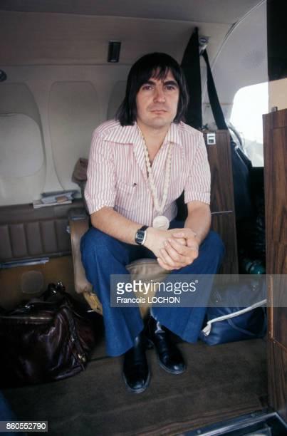 Serge Lama pendant une tournée en juin 1976 en France
