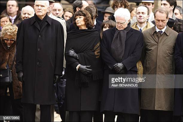 Serge Lepeltier Lionel Jospin and his wife Sylvianne Agacinski Gerard Longuet in Paris France on January 29 2007