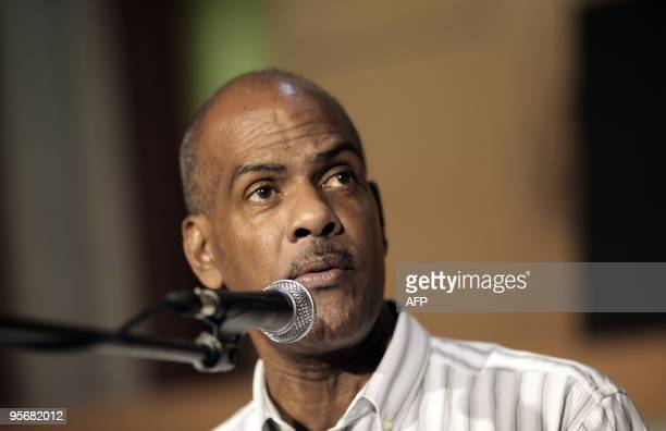 Serge Letchimy FortdeFrance mayor delivers a speech at the FortdeFrance city hall on the Caribbean island of Martinique on January 10 after the vote...