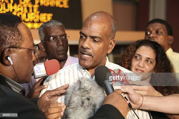 Serge Letchimy FortdeFrance mayor speaks to the press at the FortdeFrance city hall on the Caribbean island of Martinique on January 10 after the...