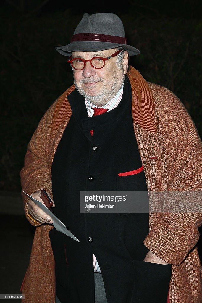 Serge Moati attends the 28th Dinner of 'Conseil Rrepresentatif Des Institutions Juives De France at Pavillon d'Armenonville on March 20, 2013 in Paris, France.