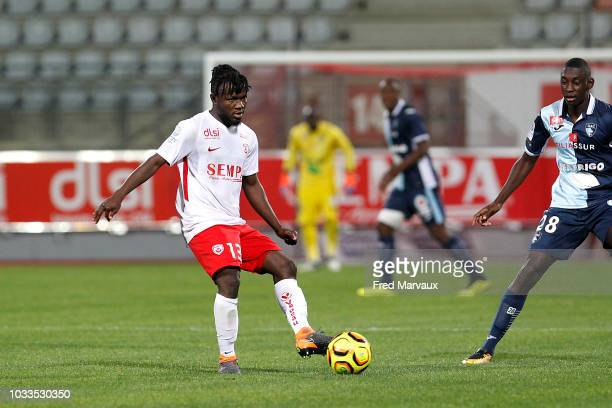 Serge Nguessan of Nancy during the French Ligue 2 match between Nancy and Le Havre on September 14 2018 in Nancy France