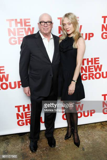 Serge Nivelle and Chloe Sevigny attend The New Group 2018 Gala at Tribeca Rooftop on March 12 2018 in New York City