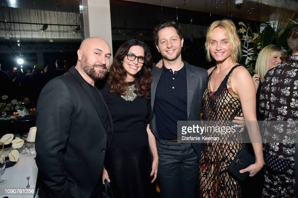 Serge Normant Elizabeth Stewart Derek Blasberg and Amber Valetta attend 2019 WSJ Magazine Talents and Legends Dinner Honoring Lucas Hedges at Mr Chow...