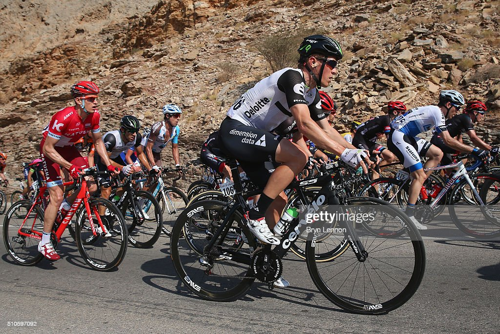 Serge Pauwels of Belgium and Dimension Data rides up the climb of Al Hamriyah during stage one of the 2016 Tour of Oman, a 145km road stage from Oman Exhibition Centre to Al Bustan on February 16, 2016 in Al Hamriyah, Oman.
