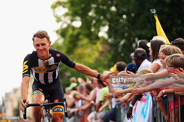 Serge Pauwels of Belgium and MTN Qhubeka attends the 2015 Tour de France Team Presentation, on July 2, 2015 in Utrecht. The 102nd Tour de France...