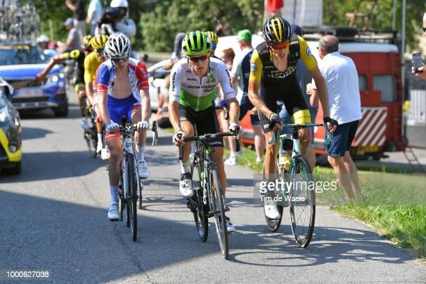 Serge Pauwels of Belgium and Team Dimension Data / Robert Gesink of The Netherlands and Team LottoNL Jumbo / David Gaudu of France and Team Groupama...