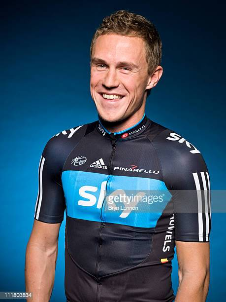 Serge Pauwels of Team Sky poses for a portrait session ahead of the 2011 road season in Windsor, England.