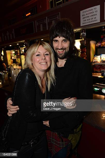 Serge Pizzorno of Kasabian with Amy attends the UK Premiere of 'Led Zeppelin Celebration Day' at Hammersmith Apollo on October 12 2012 in London...