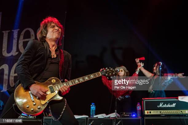 Serge Simic with The Supersonic Blues Machine performs on stage at The Notodden Blues Festival on August 2 2019 in Notodden Norway