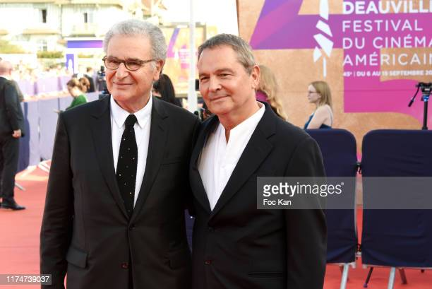 Serge Toubiana and Bruno Barde attend the Award Ceremony during the 45th Deauville American Film Festival on September 14 2019 in Deauville France