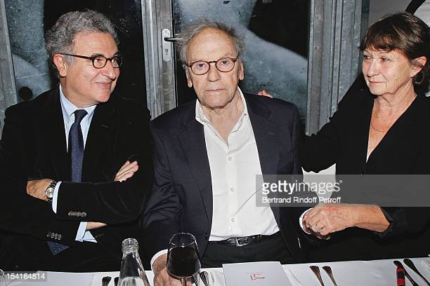 Serge Toubiana, General Director of La Cinematheque Francaise, Jean-Louis Trintignant and his companion Marianne Hoepfner attend 'Amour' Premiere at...