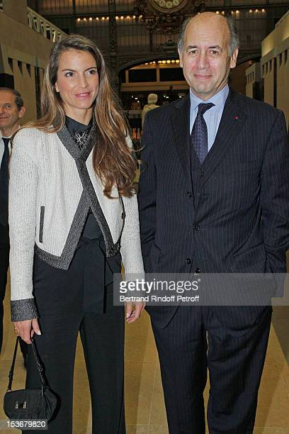 Serge Weinberg and Felicite Herzog at Musee d'Orsay on October 8, 2012 in Paris, France.
