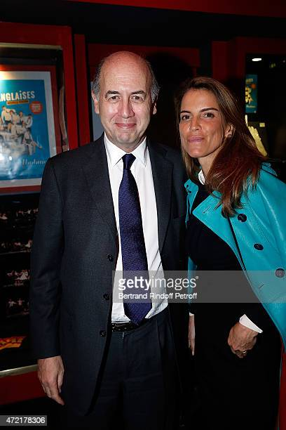 Serge Weinberg and Felicite Herzog attend 'Le Talent De Mes Amis' Paris Premiere At Bobino on May 4 2015 in Paris France