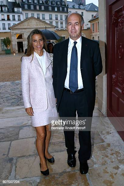Serge Weinberg and his wife Felicite Herzog attend the 4O Rue de Sevres Preview at the Head Offices of Both Kering and Balenciaga building The site...