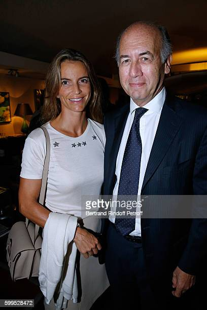 """Serge Weinberg and his wife Felicite Herzog attend the """"Cezanne et Moi"""" Premiere on September 5, 2016 in Paris, France"""