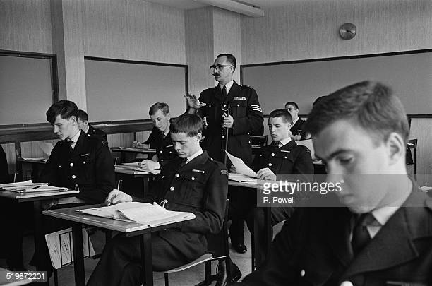 Sergeant A. Corden teaching a class of police cadets in training at Hendon Police College, London, 6th June 1968.