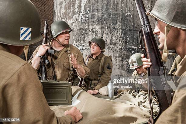 WWII Sergeant Explains Plan to Infantry Squad