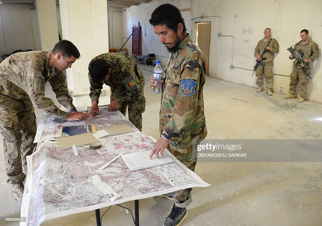 Sergeant Shair Mohammad C Of The Afghan National Army ANA - Us army map reading