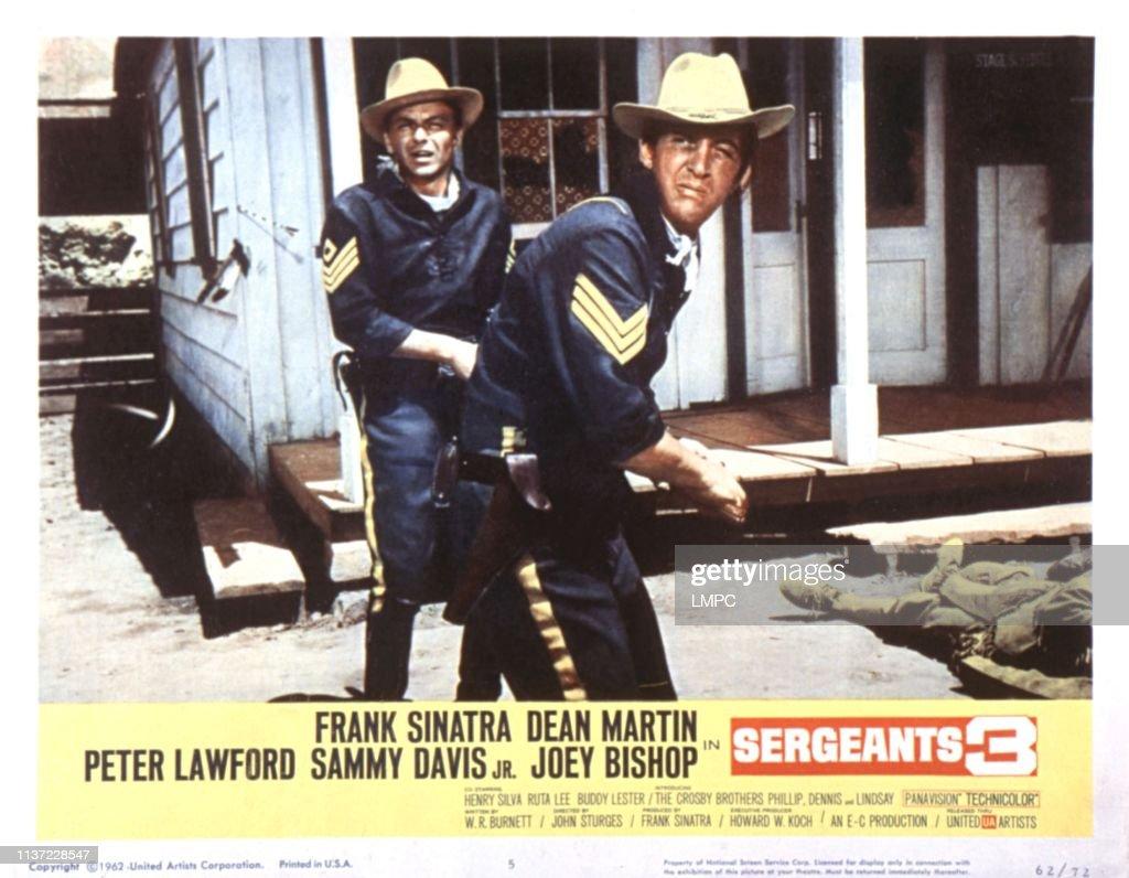 Sergeants 3 Frank Sinatra Dean Martin movie poster print