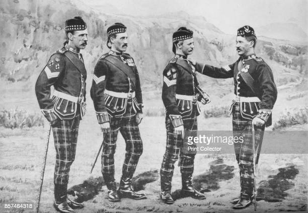Sergeants Seaforth Highlanders' circa 1880 Episode of the Second AngloAfghan War from 1878 to 1880 From British Battles on Land and Sea Vol IV by...