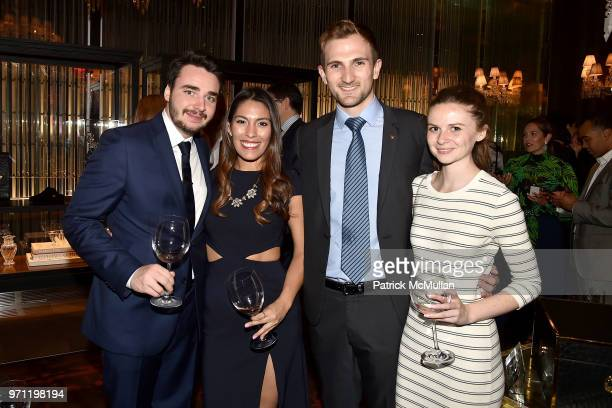 Sergei Aver Elizabeth Calvo Julien Pardes and Danica Gregory attend Christopher R King Debuts New Luxury Brand CCCXXXIII at Baccarat Hotel on June 5...