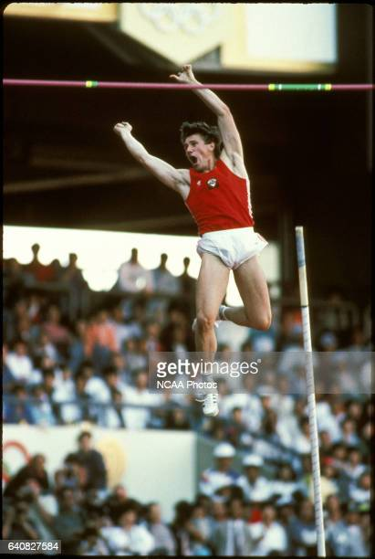Sergei Bubka of the USSR in action winning a gold medal in the pole vault during the Olympic games in Seoul South Korea Photo © Rich Clarkson / Rich...