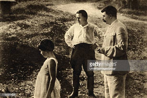 Sergei Kirov early Bolshevik leader centre with Joseph Stalin and his daughter Svetlana