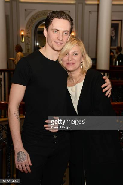 Sergei Polunin and Galina Polunina attend the premiere of 'Dancer' on March 2 2017 in London England
