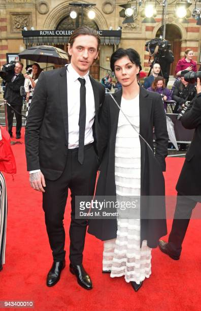 Sergei Polunin and Natalia Osipova attend The Olivier Awards with Mastercard at Royal Albert Hall on April 8 2018 in London England