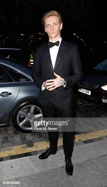 Sergei Polunin arrives in an Audi at the GQ Men of the Year Awards at Tate Modern on September 5 2017 in London England