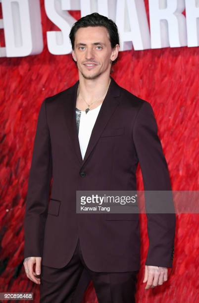 Sergei Polunin attends the European Premiere of 'Red Sparrow' at the Vue West End on February 19 2018 in London England