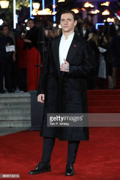 Sergei Polunin attends the 'Murder On The Orient Express' World Premiere held at Royal Albert Hall on November 2 2017 in London England