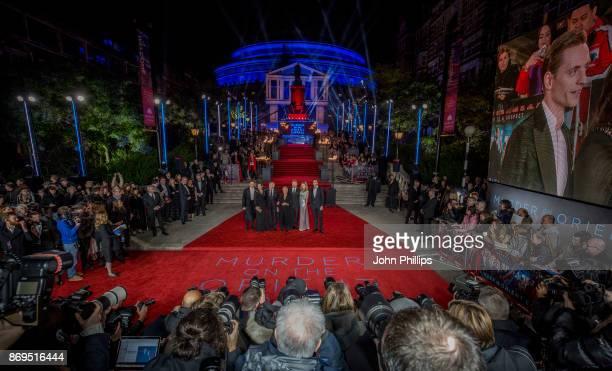 Sergei Polunin Olivia Coleman Derek Jacobi Judi Dench Kenneth Branagh Michelle Pfeiffer and Tom Bateman attend the 'Murder On The Orient Express'...