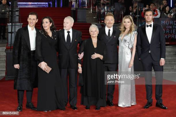 Sergei Polunin Olivia Colman Derek Jacobi Judi Dench Kenneth Branagh Michelle Pfeiffer and Tom Bateman attend the 'Murder On The Orient Express'...