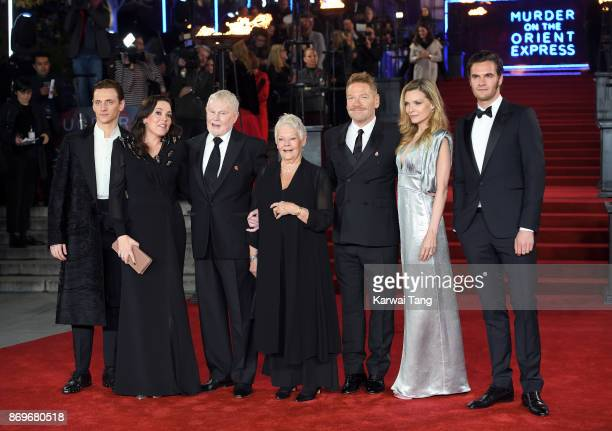 Sergei Polunin Olivia Colman Sir Derek Jacobi Judi Dench Kenneth Branagh Michelle Pfeiffer and Tom Bateman attend the 'Murder On The Orient Express'...