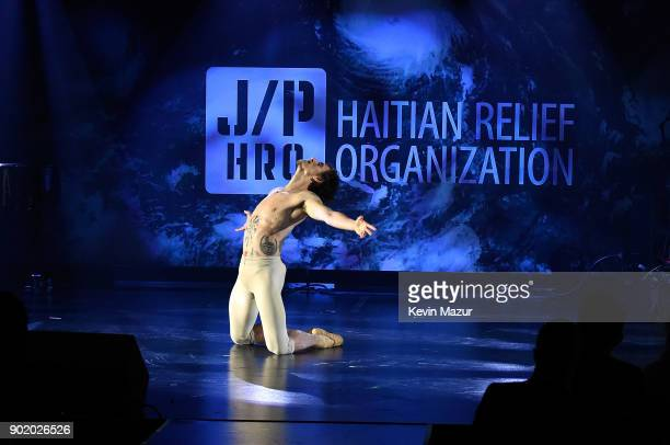 Sergei Polunin performs during the 7th Annual Sean Penn Friends HAITI RISING Gala benefiting J/P Haitian Relief Organization on January 6 2018 in...