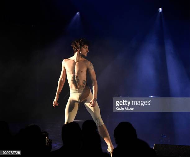 Sergei Polunin performs during the 7th Annual Sean Penn Friends HAITI RISING Gala benefiting J/P Haitian Relief Organization on January 6 2018 in...