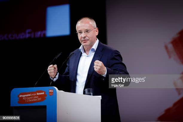 Sergei Stanishev PES President in the course of the PES party congress on December 02 2017 in Lisbon Portugal