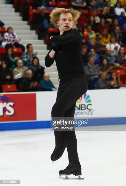 Sergei Voronov of Russia competes in the Men's Free Skating during day two of 2017 Bridgestone Skate America at Herb Brooks Arena on November 25 2017...