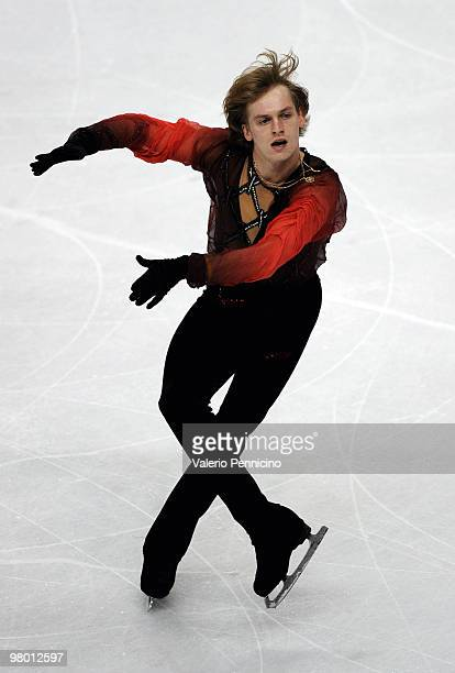 Sergei Voronov of Russia competes in the Men's Short Program during the 2010 ISU World Figure Skating Championships on March 24 2010 in Turin Italy