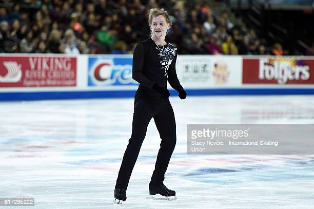 Sergei Voronov of Russia performs during the Men's Short Program on day 2 of the Grand Prix of Skating at the Sears Centre Arena on October 22 2016...