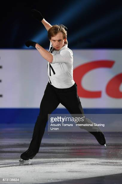 Sergei Voronov of Russia performs in the gala exhibition during the ISU Grand Prix of Figure Skating at Osaka municipal central gymnasium on November...