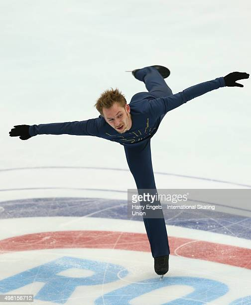 Sergei Voronov of Russia skates during the Men's Free Skating on day two of the Rostelecom Cup ISU Grand Prix of Figure Skating 2015 at the Luzhniki...