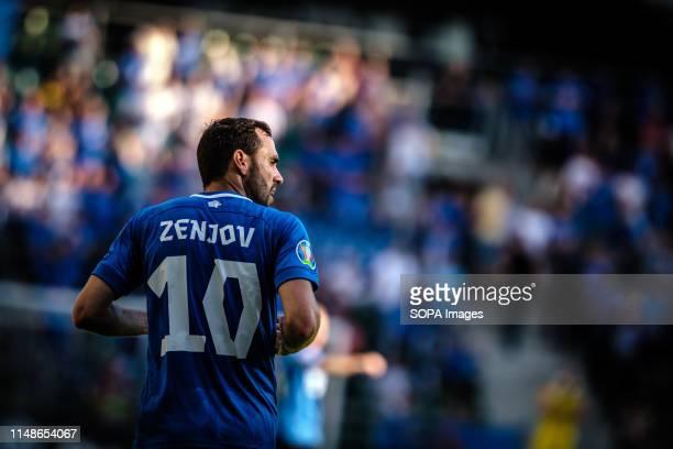 Sergei Zenjov seen in action during the Euro 2020 qualifiers game between Estonia and Northern Ireland in Tallinn. .